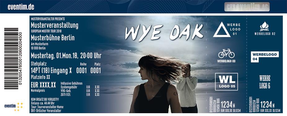 Wye Oak Karten für ihre Events 2018