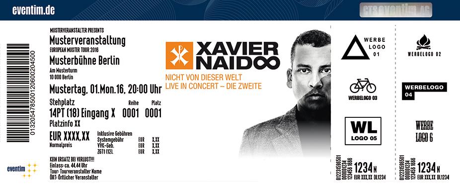 Xavier Naidoo Karten für ihre Events 2017