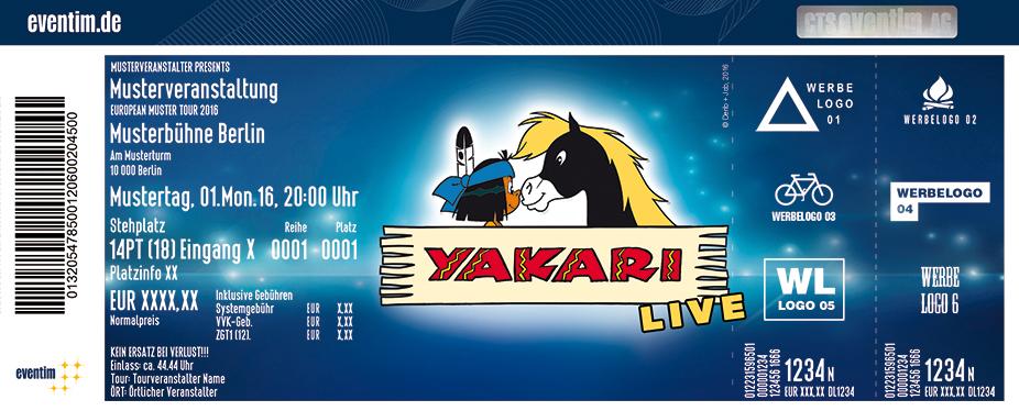 Yakari - Live Karten für ihre Events 2017