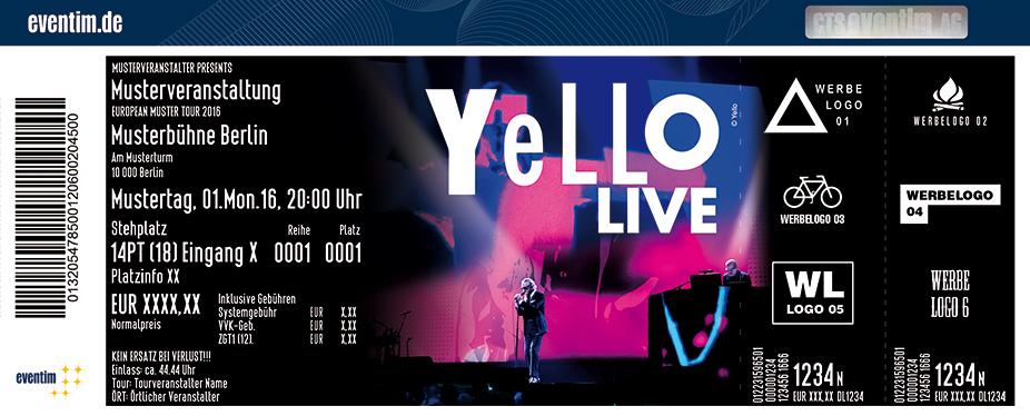 Yello Karten für ihre Events 2017