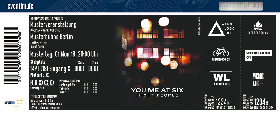 You Me At Six Karten für ihre Events 2017