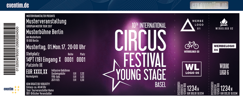Karten für Young Stage - 10. Internationales Circus Festival Basel in Basel