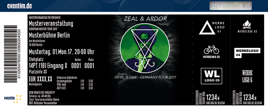 Karten für Zeal & Ardor: Devil Is Fine - Germany Tour 2017 in Köln