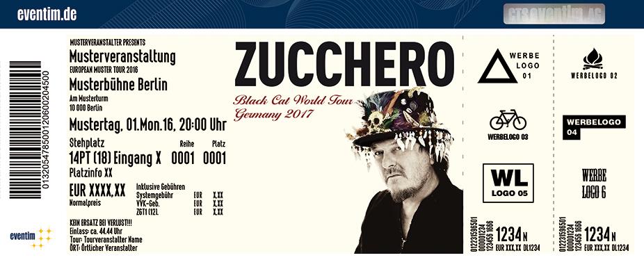 Zucchero Karten für ihre Events 2017