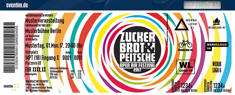 Zuckerbrot Und Peitsche Festival Karten für ihre Events 2017